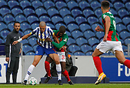 Pepe of Porto in action with Nanú of Maritimo during the Portuguese League (Liga NOS) match between FC Porto and Maritimo at Estadio do Dragao, Porto, Portugal on 3 October 2020.