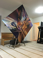 """70x70 inches, 1/8"""" thick Acrylic Facemount Montage"""