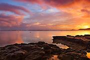 Colorful Sunset on Anini Beach Kauai Hawaii
