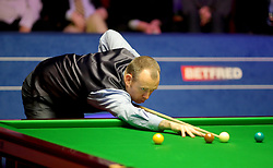Mark Williams on day seventeen of the 2018 Betfred World Championship at The Crucible, Sheffield.