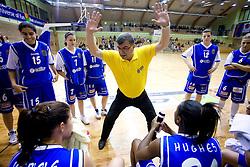 Coach of Celje Zeljko Ciglar at finals match of Slovenian 1st Women league between KK Hit Kranjska Gora and ZKK Merkur Celje, on May 14, 2009, in Arena Vitranc, Kranjska Gora, Slovenia. Merkur Celje won the third time and became Slovenian National Champion. (Photo by Vid Ponikvar / Sportida)