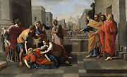 The Death of Sapphira'  1654-1656.  Nicolas Poussin (1594-1665) French painter. Oil on canvas.