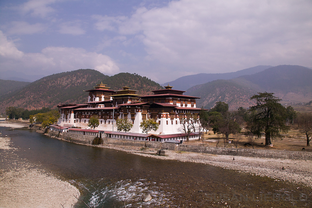 The Punakha Dzong in Bhutan.