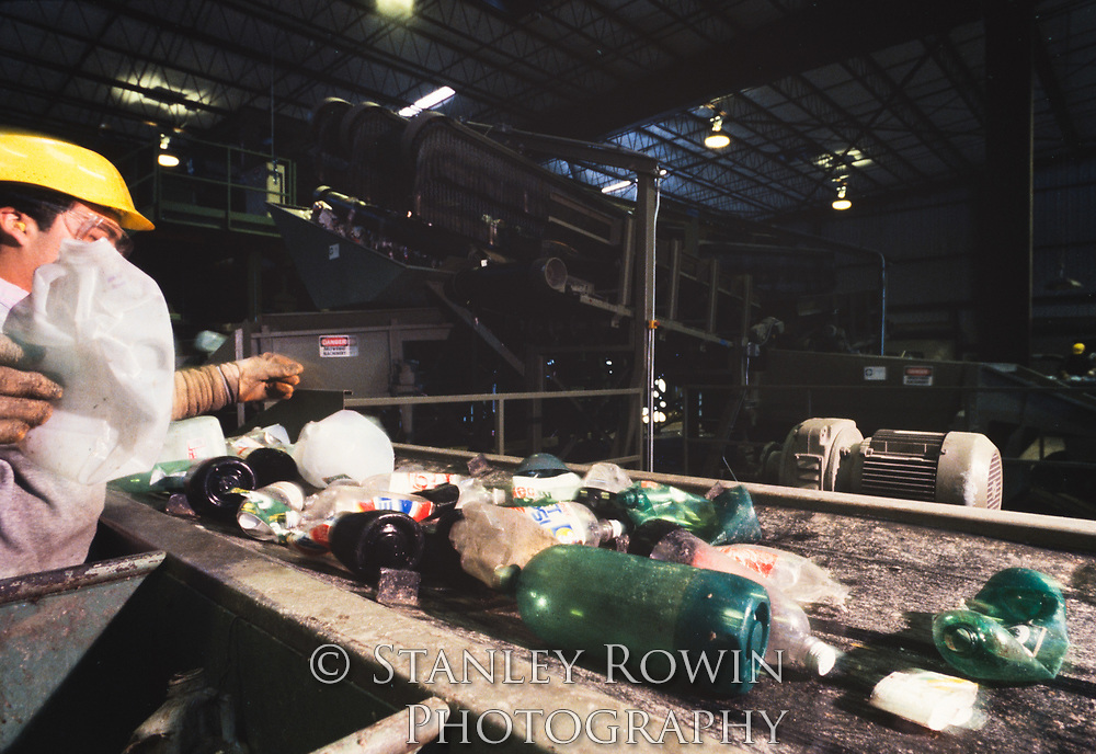 sorting plastic in Recycling Plant