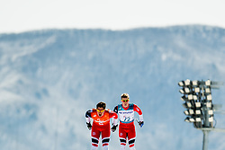 March 17, 2018 - Pyeongchang, SOUTH KOREA - 180317 Eirik Bye of Norway competes together with his guide Arvid Nelson in the men's 10 km visually impaired cross-country skiing during day eight of the 2018 Winter Paralympics on March 17, 2018 in Pyeongchang..Photo: Vegard Wivestad GrÂ¿tt / BILDBYRN / kod VG / 170134 (Credit Image: © Vegard Wivestad Gr¯Tt/Bildbyran via ZUMA Press)