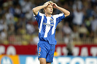 Fotball<br /> 2003/2004<br /> Norway Only<br /> Foto: Digitalsport<br /> <br /> FOOTBALL - SUPER CUP UEFA 2003 - 030829 - AC MILAN v FC PORTO - EDGARAS JANKAUSKAS (POR) - PHOTO JEAN-MARIE HERVIO