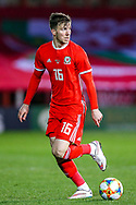 Wales midfielder Lee Evans during the Friendly European Championship warm up match between Wales and Trinidad and Tobago at the Racecourse Ground, Wrexham, United Kingdom on 20 March 2019.