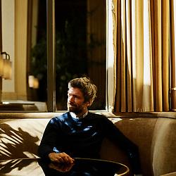 Joseph Dirand, an architect, posing in the Girafe restaurant (Palais de Chaillot), which he designed. Paris, France. September 6, 2019.