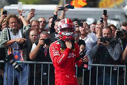 SPA-FRANCORCHAMPS, Sept. 2, 2019  Charles Leclerc of Ferrari reacts after the Formula 1 Belgian Grand Prix at Spa-Francorchamps Circuit, Belgium, Sept. 1, 2019. (Credit Image: © Zheng Huansong/Xinhua via ZUMA Wire)