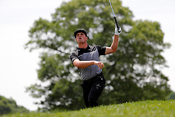June 22, 2018 - Cromwell, CT, U.S. - CROMWELL, CT - JUNE 22: Bryson DeChambeau of the United States watches his second shot on 18 during the Second Round of the Travelers Championship on June 22, 2018, at TPC River Highlands in Cromwell, Connecticut. (Photo by Fred Kfoury III/Icon Sportswire) (Credit Image: © Fred Kfoury Iii/Icon SMI via ZUMA Press)