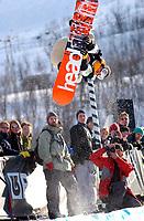 The Arctic Challenge/Halfpipe - FINALS/Tromsø/31032004:<br /> Steve Fisher - USA<br /> FOTO: KAJA BAARDSEN/DIGITALSPORT