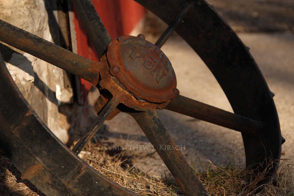 Tractor Wheel on Wisconsin Farm
