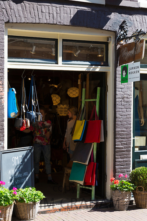 Ladies fashion shop in the Nine Streets shopping district, Amsterdam
