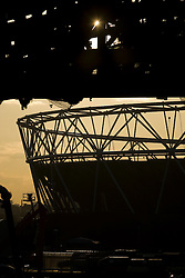 Olympic Park. Evening view of construction on the Olympic Park. Picture taken on 28 Oct 09 by David Poultney.