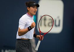 March 24, 2019 - Miami, FLORIDA, USA - Yafan Wang of China in action during her third-round match at the 2019 Miami Open WTA Premier Mandatory tennis tournament (Credit Image: © AFP7 via ZUMA Wire)