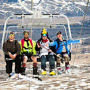 Skiers show off their costumes on Gaper Day at Jackson Hole Mountain Resort.
