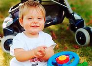 Raymond at Grandma Bushey's house. Fall 2001.