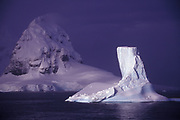 Image of ice floes in the Lemaire Channel, Antarctica by Randy Wells