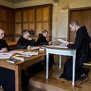 Theology course at the novitiate. Solesmes 08-01-2016<br /> Cours de théologie au noviciat. Solesmes 08-01-2016