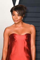February 24, 2019 - Los Angeles, California, USA - LOS ANGELES, CA - FEBRUARY 24: Gabrielle Union at the Vanity Fair Oscar Party on February 24, 2019 in Los Angeles, California. Photo: imageSPACE (Credit Image: © Imagespace via ZUMA Wire)