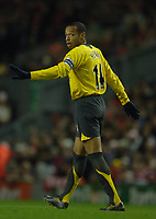 Photo: Paul Greenwood.<br />Liverpool v Arsenal. The FA Cup. 06/01/2007. Arsenal captain Thierry Henry