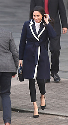 Meghan Markle leaves after a visit to Millennium Point in Birmingham, as part of the latest leg in the regional tours she and Prince Harry are undertaking in the run-up to their May wedding.
