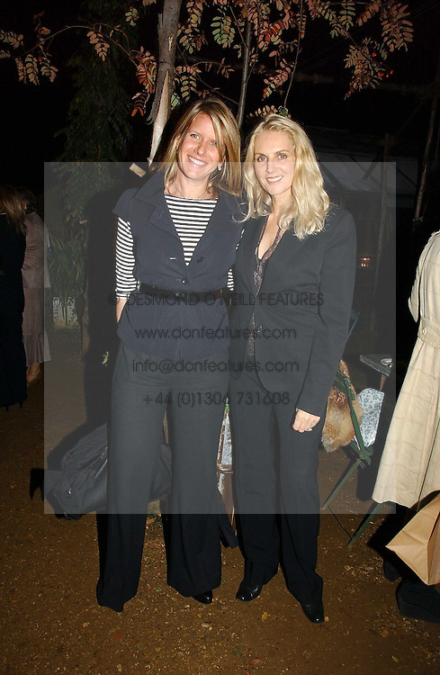 Left to right, FIONA GOLFAR wife of actor Robert Fox and GAEL BOGLIONE at a party to celebrate the publication on 'A Year in My Kitchen' by Skye Gyngell held at The Petersham Nurseries, Petesham, Surrey on 19th October 2006.<br /><br />NON EXCLUSIVE - WORLD RIGHTS