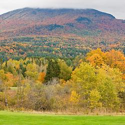 Burke Mountain in fall in Vermont's Northeast Kingdom.  East Burke.