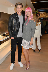 TOBY HUNTINGTON-WHITELEY and AMBER LE BON at the launch of the new Rimowa store at 153a New Bond Street, London on 29th June 2016.