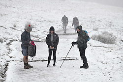 © Licensed to London News Pictures. 04/12/2020. <br /> Penyfan, in the Brecon Beacons, the highest point in southern Wales and England, which has seen it's first snowfall of the year. Photo credit: Robert Melen/LNP