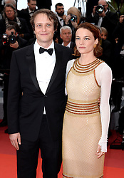August Diehl (left) and Valerie Pachner attending A Hidden Life Premiere, during the 72nd Cannes Film Festival. Photo credit should read: Doug Peters/EMPICS