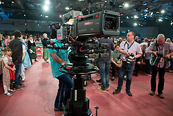 27.03.2015, Messehalle, Oberwart, AUT, Musikantenstadl in Oberwart - Generalprobe, im Bild eine Kamera des ORF und Fotografen während der Generalprobe des 'Musikantenstadl' // a TV-camera and photographers during the dress rehearsel of the show 'Musikantenstadl' at the Fair Hall, Oberwart, Austria on 2015/03/27, EXPA Pictures © 2015, PhotoCredit: EXPA/ Erwin Scheriau