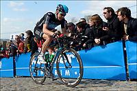 Sykkel<br /> Foto: PhotoNews/Digitalsport<br /> NORWAY ONLY<br /> <br /> OUDENAARDE, BELGIUM - APRIL 01:  <br /> BOASSON HAGEN Edvald of Team SKY on the Paterberg climb during the Flanders Classics UCI WorldTour 96th Ronde van Vlaanderen cycling race with start in Brugge and finish in Oudenaarde on April 01, 2012 in Oudenaarde, Belgium.