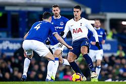 Erik Lamela of Tottenham Hotspur takes on Michael Keane of Everton - Mandatory by-line: Robbie Stephenson/JMP - 23/12/2018 - FOOTBALL - Goodison Park - Liverpool, England - Everton v Tottenham Hotspur - Premier League