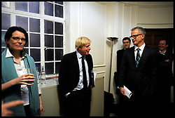 Boris Johnson with Brian Paddick backstage during the Evening Standard Mayoral Election Debate, London, UK, April 11, 2012. Photo By Andrew Parsons / i-Images.