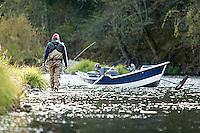 Jon Mercedich fly fishing on the Trinity River in Northern California.