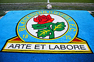 Club Emblem and FA Cup Ball before the The FA Cup match between Blackburn Rovers and Doncaster Rovers at Ewood Park, Blackburn, England on 9 January 2021.