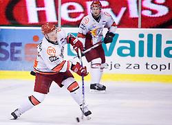 Andrei Makrov of Acroni Jesenice at 38th Round of EBEL league  ice hockey match between HDD Tilia Olimpija Ljubljana and HK Acroni Jesenice, on January 1, 2010, in Arena Tivoli, Ljubljana, Slovenia. (Photo by Vid Ponikvar / Sportida)