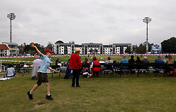 A young EnglandÕs fan playing cricket during the fifth women's ODI at The Spitfire Ground St Lawrence, Canterbury. Picture date: Sunday September 26, 2021.