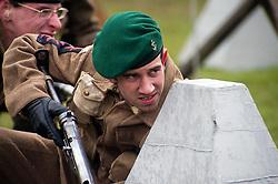 reenactors portray members of British Fox Commando Royal Navy during a battle reenactment at Fort Paull nr Hull on Monday 7 May 2012<br /> Image © Paul David Drabble