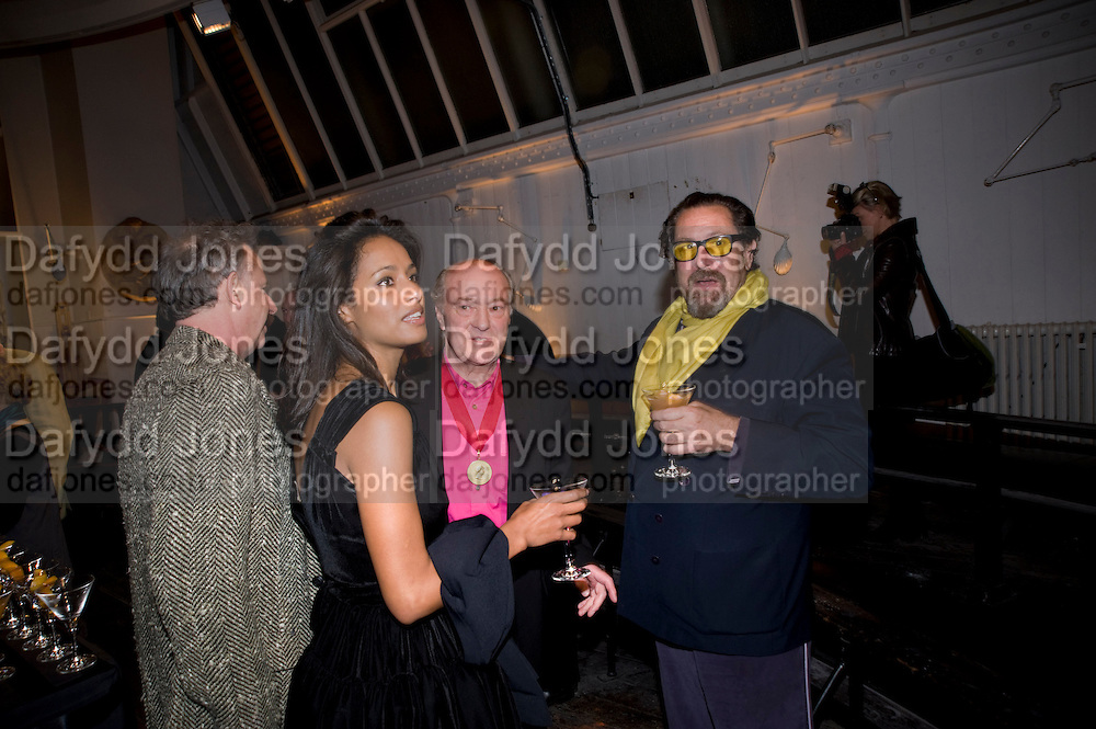 RULA JEBREAL; MAURICE COCKRILL; JULIAN SCHNABEL, Royal Academy Schools fundraising Annual dinner and auction. Royal academy Schools. Burlington St. London.  24 March 2009