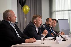 June 5, 2018 - Grobbendonk, BELGIUM - Luc Van Thillo pictured during a press conference of new soccer team KSK Lierse Kempenzonen, a merger between bankrupt Lierse SK and Oosterzonen, in Grobbendonk, Tuesday 05 June 2018. BELGA PHOTO LUC CLAESSEN (Credit Image: © Luc Claessen/Belga via ZUMA Press)