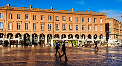 Buildings in the Place du Capitol, Toulouse, France<br /> <br /> (c) Andrew Wilson | Edinburgh Elite media