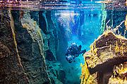 Diving in Kelduhverfi, Iceland