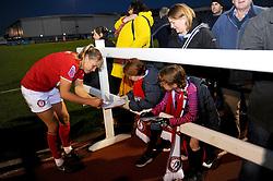 Bristol City Women players sign autographs at the end of the match- Mandatory by-line: Nizaam Jones/JMP - 27/10/2019 - FOOTBALL - Stoke Gifford Stadium - Bristol, England - Bristol City Women v Tottenham Hotspur Women - Barclays FA Women's Super League