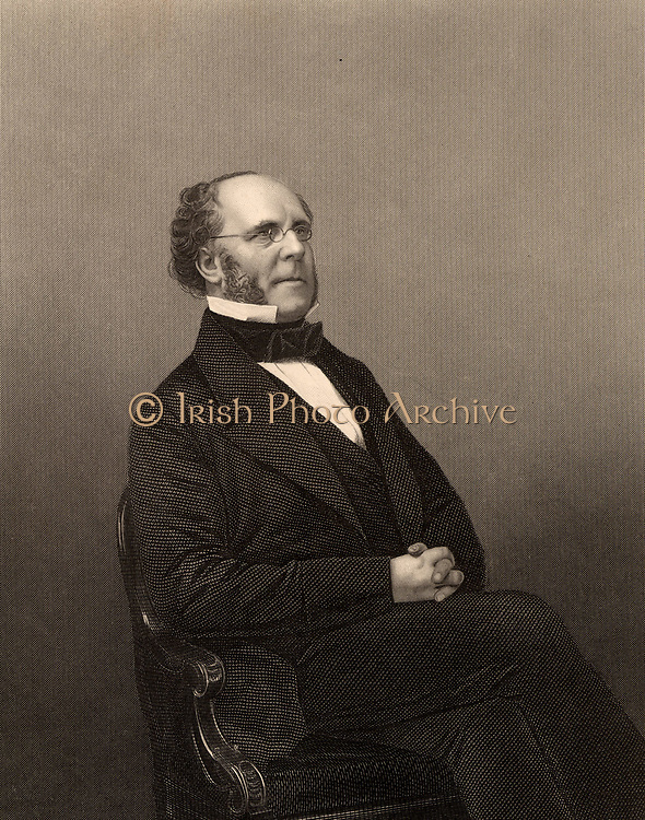 Matthew Talbot Baines (1799-1860), British lawyer and Liberal politician. Member of Parliament 1847-1859.  Engraving from 'The Illustrated News of the World' (London, c1860).