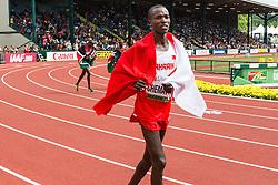 mens 3000 steeplechase, Kenyan-born Evans Chematot of Bahrain, 3rd