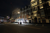 Deserted street in London after Prime Minister Boris Johnson warned people to avoid social contact, to work from home where possible and advised people to stay away from pubs, bars and restaurants to protect people from the coronavirus outbreak.Photo By Roger Alrcon photo