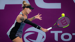 February 12, 2019 - Doha, QATAR - Polona Hercog of Slovenia in action during the first round of the 2019 Qatar Total Open WTA Premier tennis tournament (Credit Image: © AFP7 via ZUMA Wire)