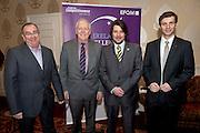 Joe Schneider CMS, CforC Chief Executive Bob Barbour, Matt Fisher, EFQM, Thomas Pirktl, Alpenresort  at the Galway Bay Hotel for the FFQM awards. Photo:Andrew Downes